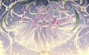 Picture vocaloid, anime, miku hatsune