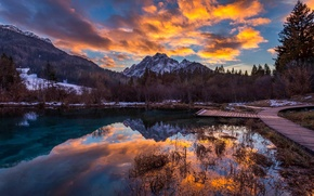 Picture the sky, clouds, mountains, slovenia
