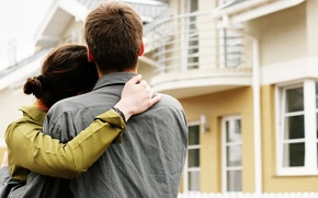 Picture love, mood, family, pair, housing, hug, new home