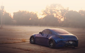 Picture blue, tuning, nissan, landing, Nissan, 350Z, low