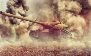 Picture explosions, art, tank, USA, USA, America, tanks, WoT, World of Tanks, T57 Heavy Tank, T57