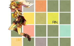 Picture girl, vocaloid, bow, Vocaloid, Rin Kagamine