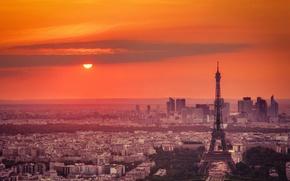 Wallpaper sunset, the city, Paris
