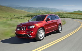 Wallpaper Jeep, road, Summit, Grand Cherokee