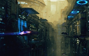 Picture Sci-Fi, city, metropolis, art