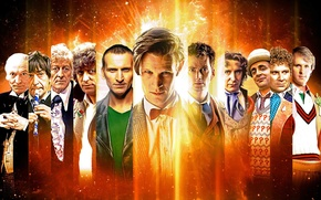 Picture look, space, stars, smile, fiction, face, the series, actors, Doctor Who, men, Doctor Who, BBC, …