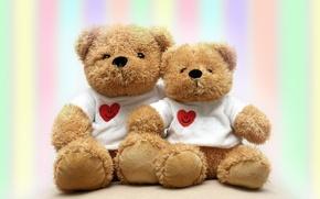 Wallpaper bears, bears, toys, mood, plush, hearts, soft