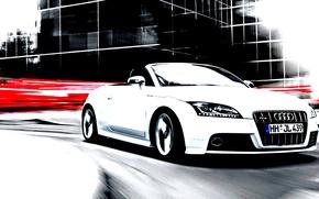 Picture car, audi, future, urban, car white, fabulous, great car.
