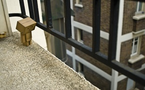 Picture house, box, Windows, the fence, railings, balcony, danbo