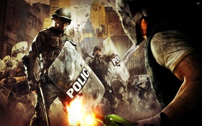 Picture police, shield, Winchester, police, street gangs, a Molotov cocktail, riots, urban chaos riot response, police …
