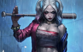 Picture rain, bit, Harley Quinn, Suicide Squad, Margo Robbie, Suicide Squad