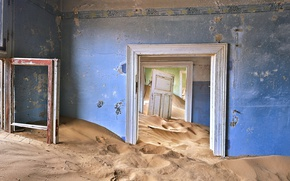 Wallpaper Alexei Suloev, abandoned, the door, house, photographer, the Sands of time