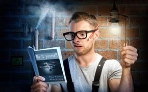 Picture crash, book, repair, DIY