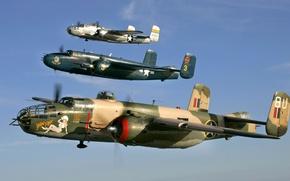 Picture the sky, flight, retro, the plane, parade, link, B-25 Mitchel