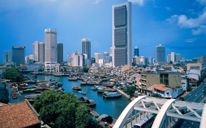 Picture River, Boats, Singapore
