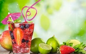 Wallpaper fruit, drink, cocktail, cocktail, fruit, summer, tropical, fresh