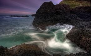 Wallpaper sea, water, stones
