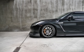 Picture Nissan, cars, auto, wallpapers auto, Wallpaper HD, blac, Photography, Nissan Gtr, Gtr