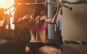 Picture back, workout, fitness, gym, sportswear