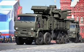 Picture Russia, May 9, complex, self-propelled, Victory Parade, Red Square, Pantsir-S1, missile and gun, anti-aircraft, SA-22 …
