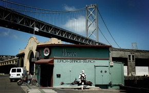 Picture bridge, star wars, San Francisco, diner, scout