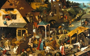 Picture picture, Pieter Bruegel, The Flemish Proverbs