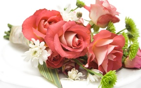 Picture flowers, flowers, wedding, delicate, bouquets, bride, flower, beautiful, cool, roses, flower, beauty, bouquet, roses, nice, ...