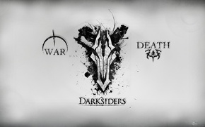 Picture death, war, war, darksiders, death, the horsemen of the Apocalypse