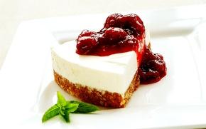 Wallpaper food, cake, cake, leaf, dessert, cake, sweet, jam, biscuit, cheesecake