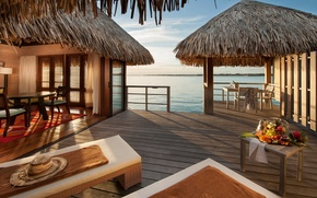 Picture design, space, style, the ocean, interior, Bungalow