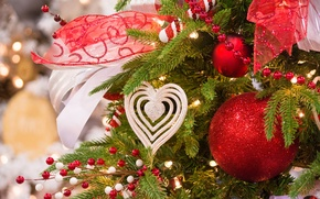 Picture balls, decoration, tape, tree