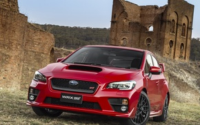 Picture red, subaru, wrx, sti