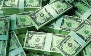 Picture dollars, the bucks, packs