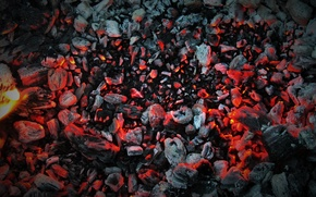 Picture heat, coal, the fire