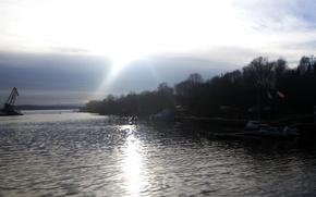 Picture water, bridge, lake, Vyborg