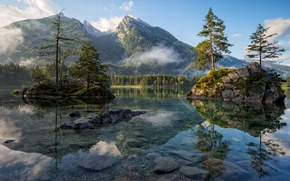 Picture forest, water, mountains, nature, rocks, Germany