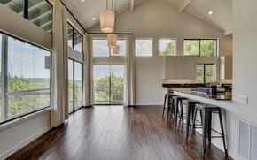 Picture design, room, Villa, interior, kitchen