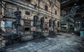 Wallpaper plant, oven, factory