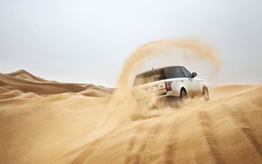 Picture sand, Land Rover, Range Rover, rear view, Land Rover, Range Rover