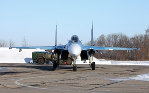Wallpaper Flanker, Su-27, Su-27, Sukhoi, The Russian multirole fighter