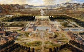 Picture picture, painting, painting, palace of Versailles, Pierre Patel