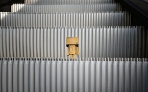 Picture box, toy, cardboard, danbo, box, toy, escalator, escalator, 2560x1600, levels, stupenki, amazon, carton