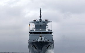 Picture ship, Germany, military, frigate, Navy, Baden