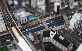 Picture Tokyo, Japan, small, Asia, city, roads, miniature, streets, buildings, houses