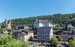 Picture castle, building, Luxembourg, Luxembourg, Clervaux, Luxembourg, Clervaux
