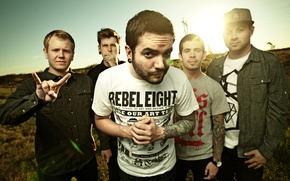 Picture field, music, group, a day to remember