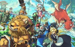 Picture weapons, fiction, dragon, the game, Leo, anime, the demon, fantasy, knight, the maid, RPG