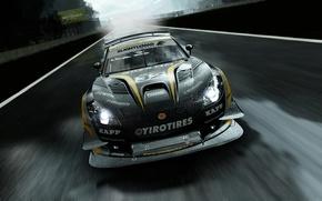 Picture machine, rain, track, supercar, the project