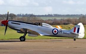 Wallpaper fighter, English, WW2, Supermarine, Spitfire, Spitfire FR.XVIIIe