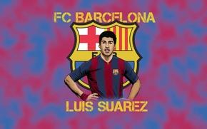 Picture FC Barcelona, sport, player, wallpaper, football, Luis Suarez